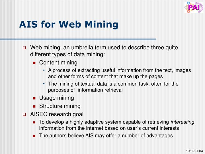 AIS for Web Mining