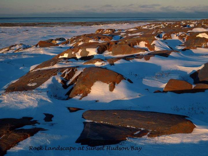 Rock Landscape at Sunset Hudson Bay