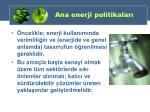 ana enerji politikalar