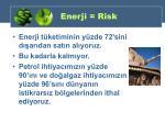 enerji risk