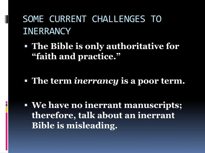 inerrancy of the bible essay Free essay: inspiration and inerrancy 1 short essay on inspiration and inerrancy of the bible the inspiration and inerrancy of the bible is a critical topic.