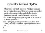 operator kontroli b d w