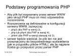 podstawy programowania php