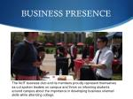 business presence