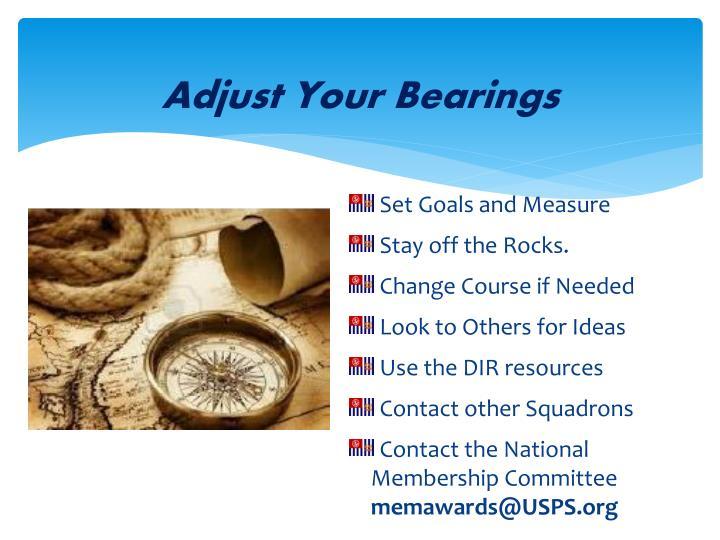 Adjust Your Bearings