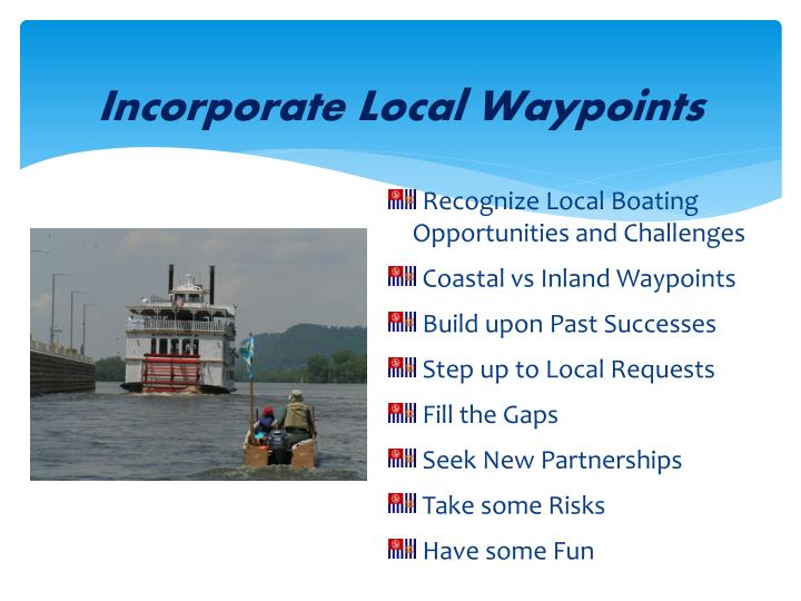Incorporate Local Waypoints