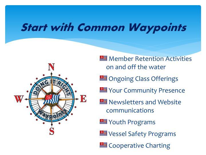 Start with Common Waypoints
