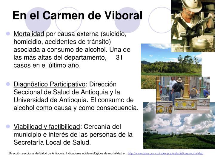En el Carmen de Viboral