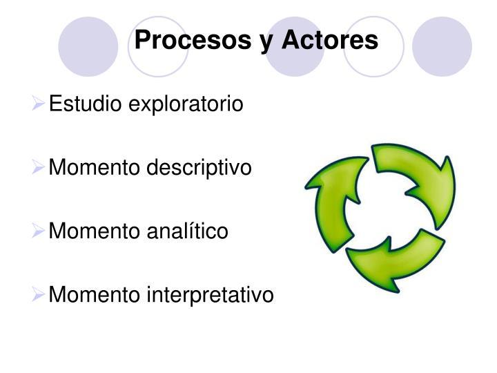 Procesos y Actores