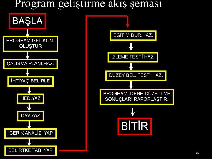 Program geliştirme akış şeması