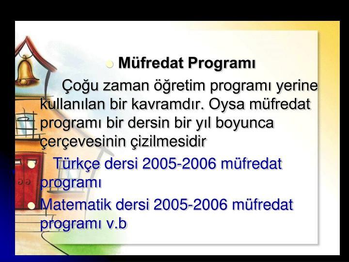 Müfredat Programı