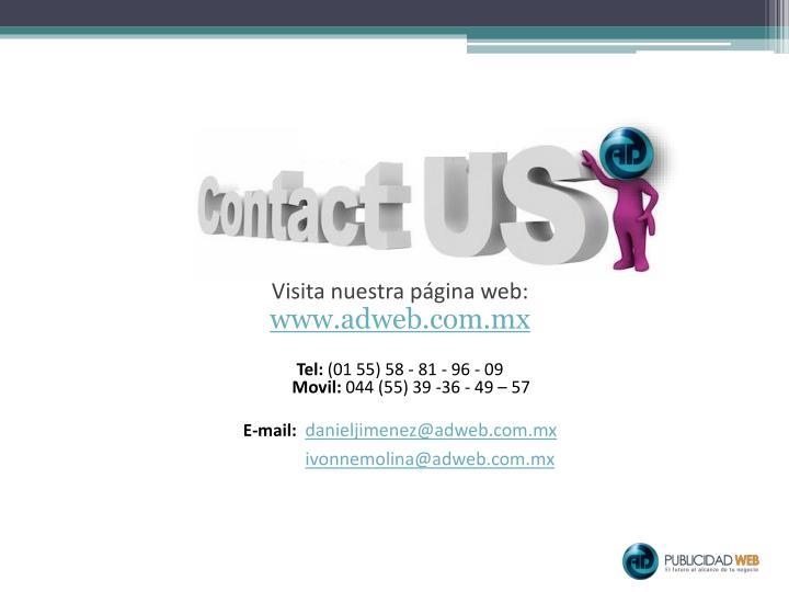 Visita nuestra página web: