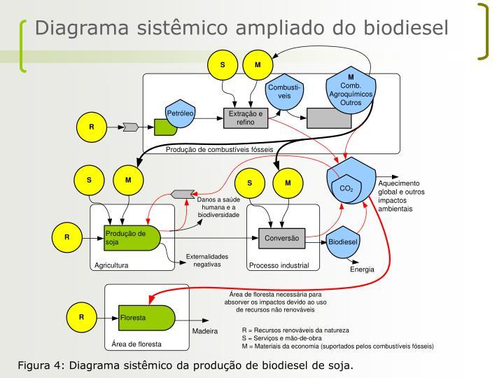 Diagrama sistêmico ampliado do biodiesel