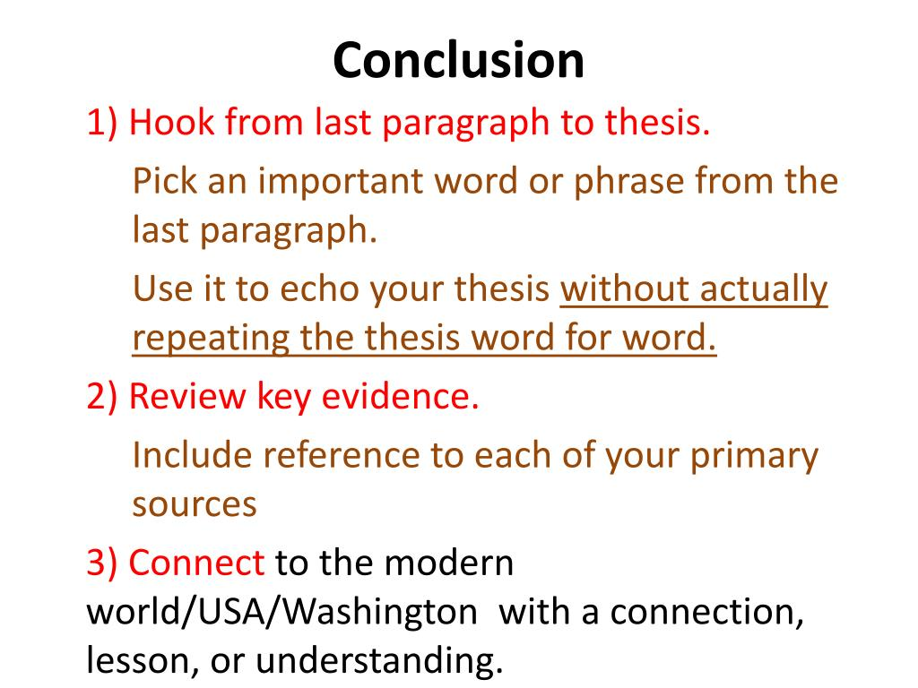 what to include in a conclusion