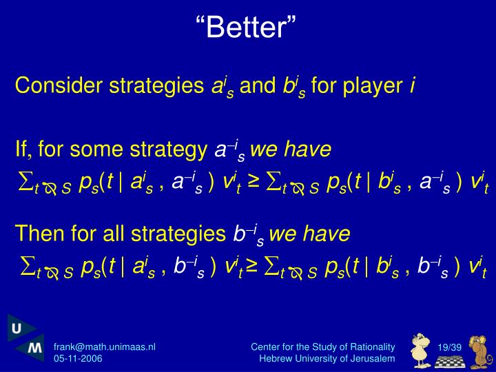"""""""Better"""""""