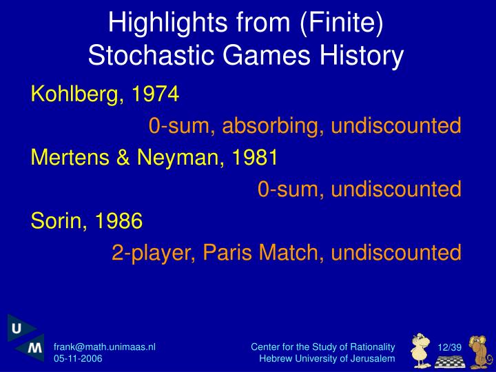 Highlights from (Finite)