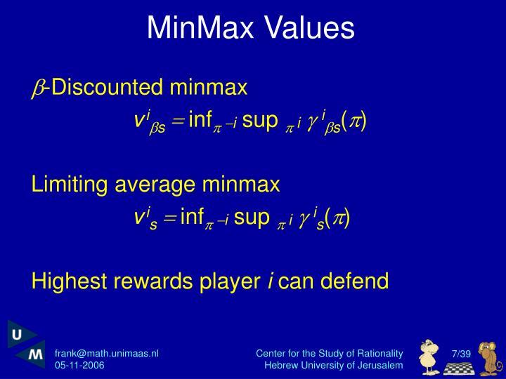 MinMax Values