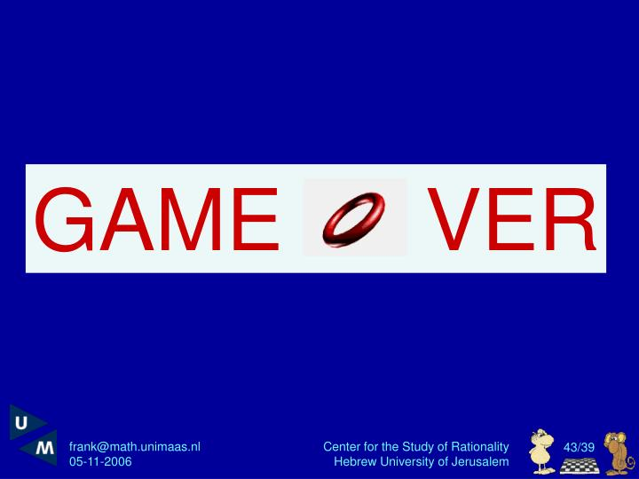 GAME      VER