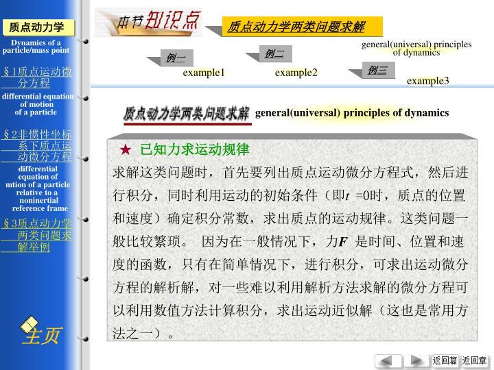 general(universal) principles of dynamics