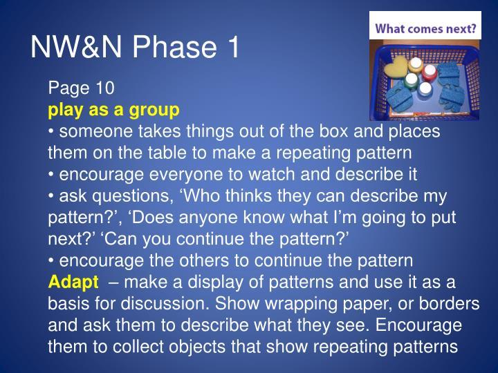 Nw n phase 1