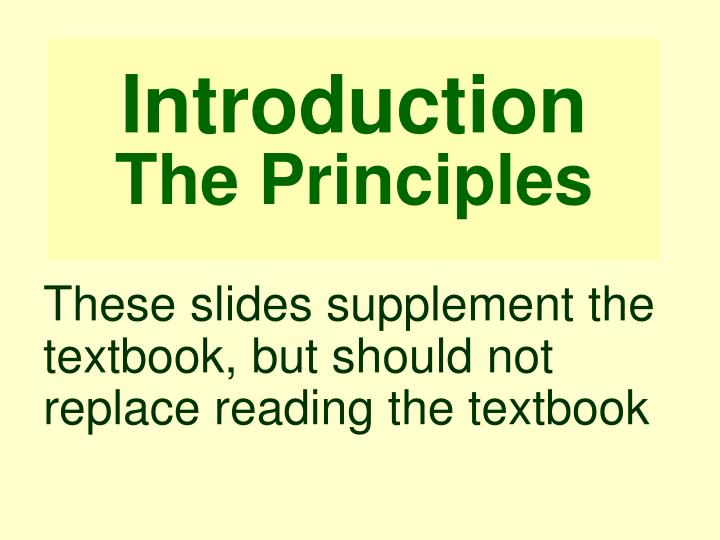 introduction the principles n.