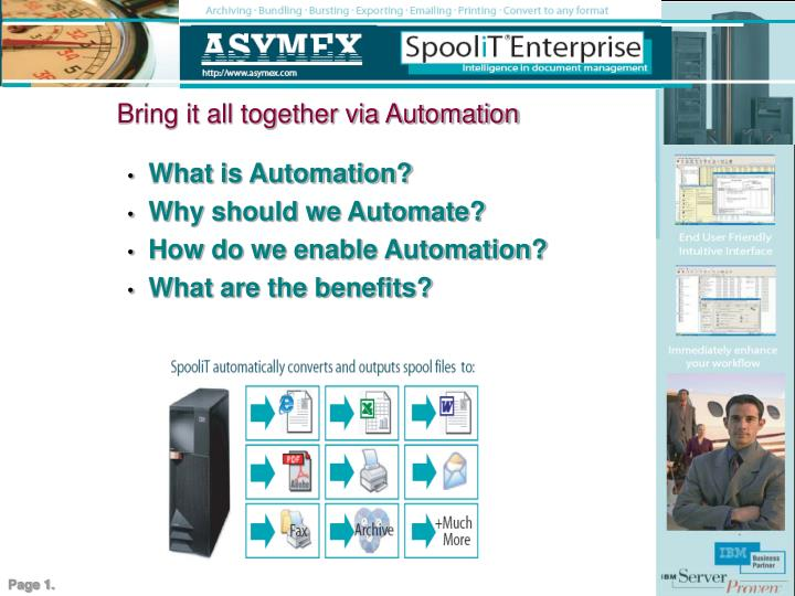 bring it all together via automation n.