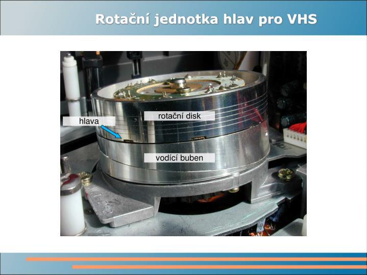 Rotační jednotka hlav pro VHS