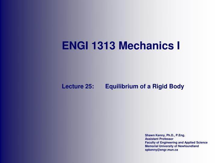 engi 1313 mechanics i n.
