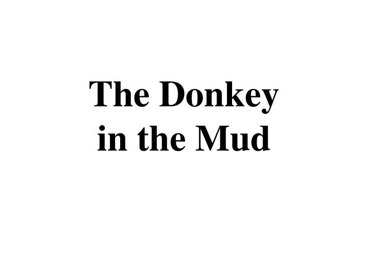 the donkey in the mud n.
