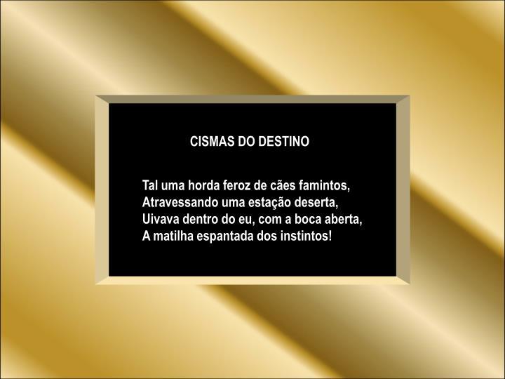 CISMAS DO DESTINO