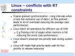 linux conflicts with rt constraints