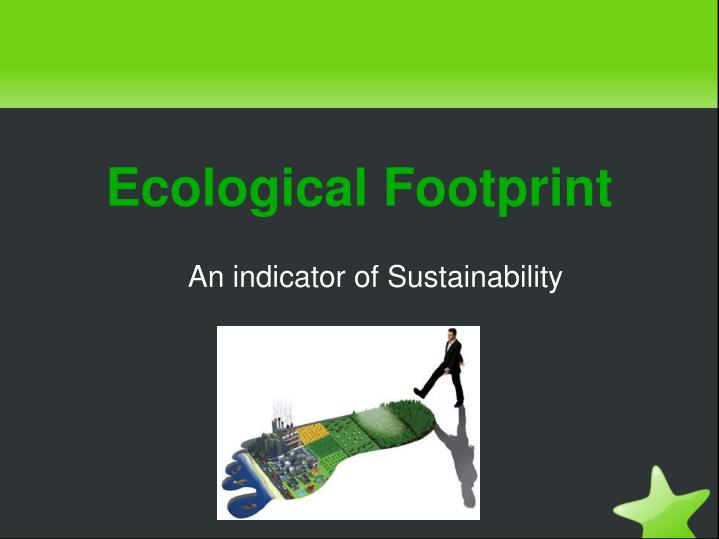 An indicator of Sustainability