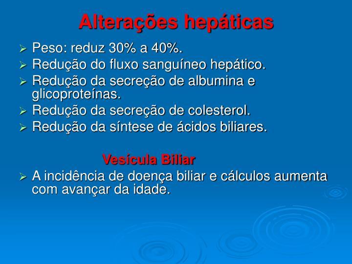 Alterações hepáticas