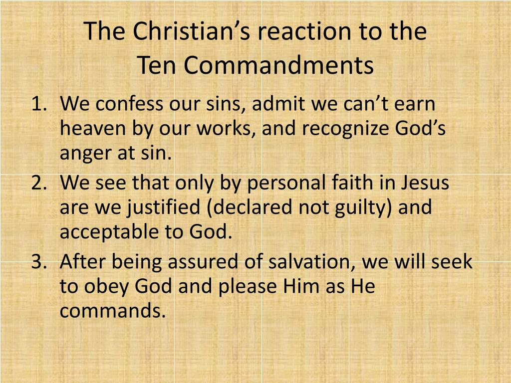 Ppt Conclusion To The Ten Commandments Powerpoint Presentation
