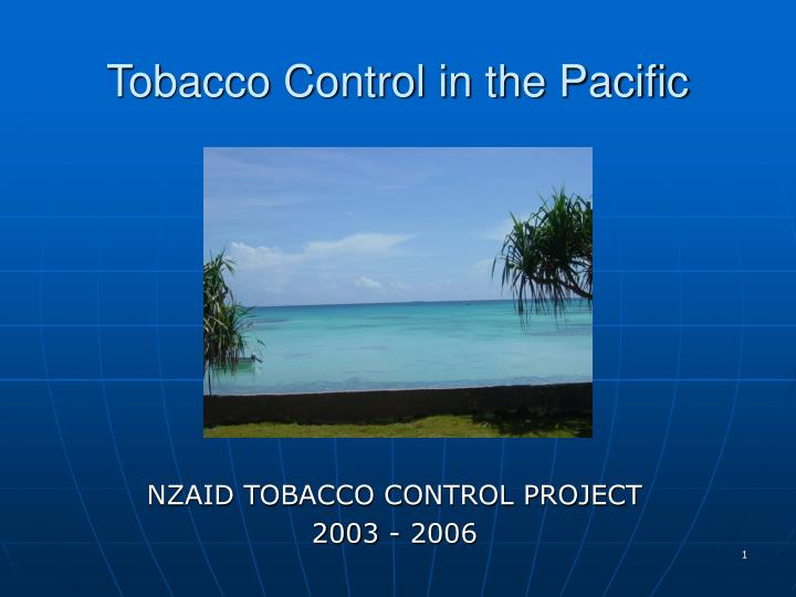 tobacco control in the pacific n.