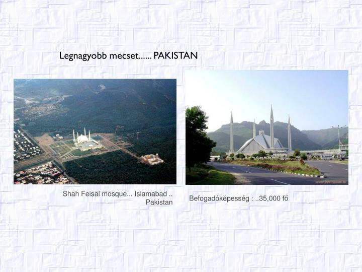 Shah Feisal mosque... Islamabad ..