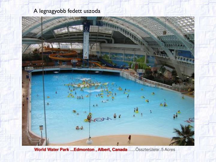 World Water Park ...Edmonton , Albert, Canada