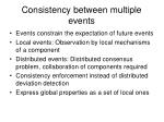 consistency between multiple events