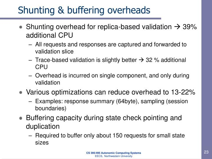 Shunting & buffering overheads