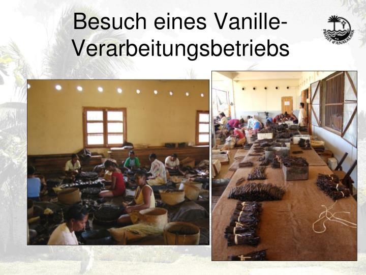 Besuch eines Vanille-Verarbeitungsbetriebs