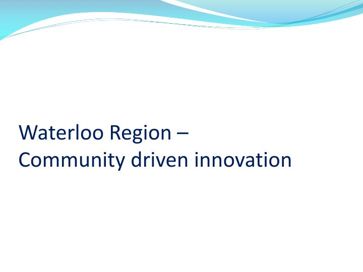 Waterloo Region –