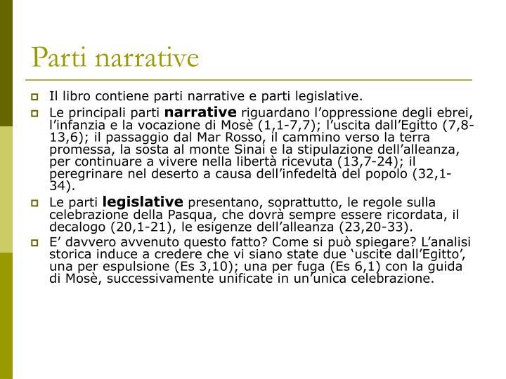Parti narrative