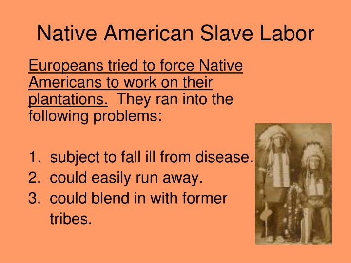 Native American Slave Labor
