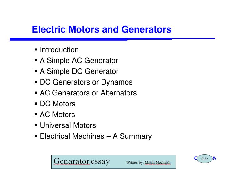 Ppt motors and generators powerpoint presentation id:6685774.