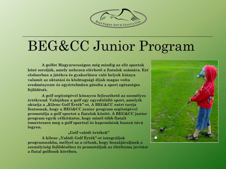 BEG&CC Junior Program