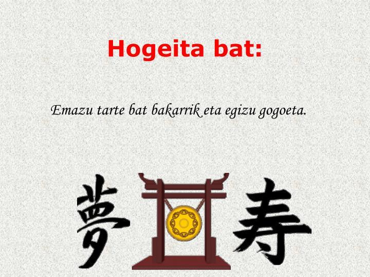 Hogeita bat