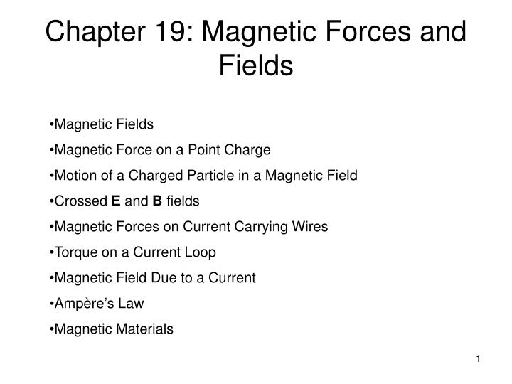 chapter 19 magnetic forces and fields