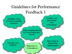 guidelines for performance feedback 15