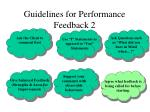 guidelines for performance feedback 25