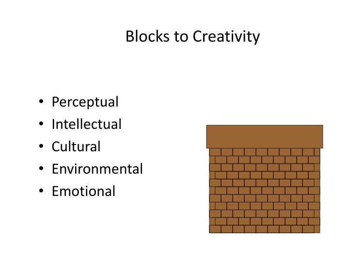 Blocks to Creativity